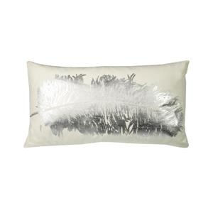 Urban Loft by Westex Feathers Decorative Cushion - 14-in x 26-in - Silver