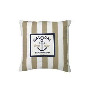 Urban Loft by Westex Nautical Stripe Decorative Cushion - 20-in x 20-in - Beige