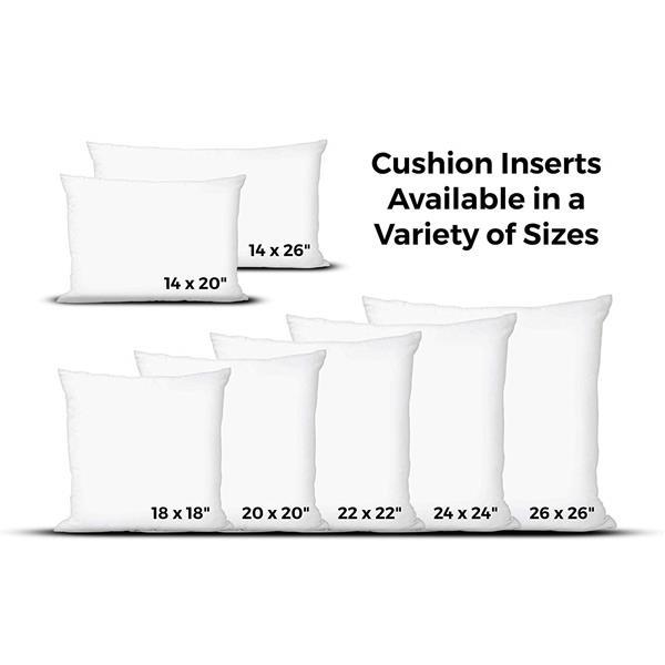 Insert de coussin en bourre  de polyester, 14 po x 26 po, blanc