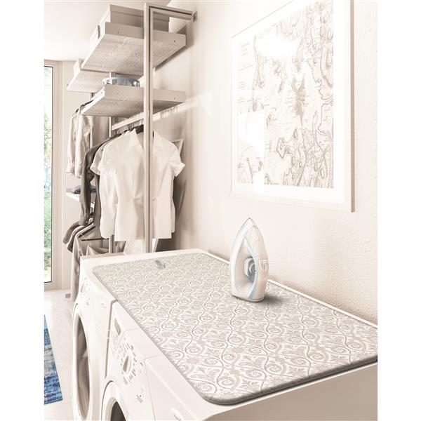 Laundry Solutions by Westex Portable Steamer Pad - 2-in-1 - Damask Grey