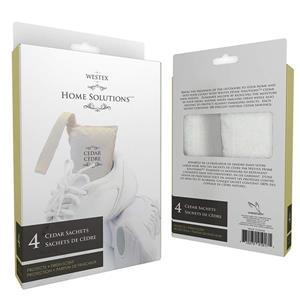 Laundry Solutions by Westex Cedar Closet Shoe Freshner Set - 4 Pieces - Brown