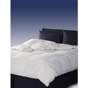 Couette en duvet naturel, grand lit, blanc