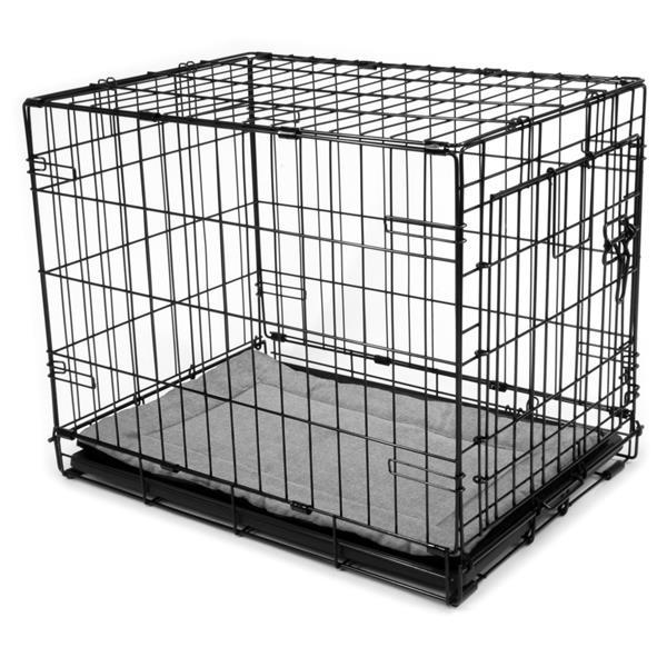 """Tapis pour chien carré, 27"""" x 17"""" x 1"""", charbon"""