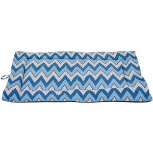Urban Loft by Westex Chevron Dog Crate Mat - 23-in x 14-in x 1-in - Blue