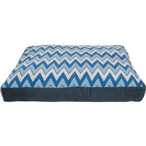 Urban Loft by Westex Square Chevron Slab Dog Bed - 40-in x 28-in x 6-in - Blue