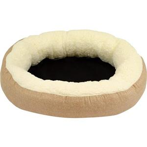 Urban Loft by Westex Oval Donut Dog Bed - 27-in x 22-in x 7-in - Grey
