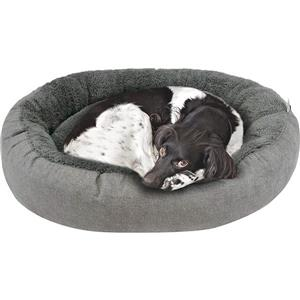 Urban Loft by Westex Oval Donut Dog Bed - 35-in x 27-in x 8-in - Charcoal