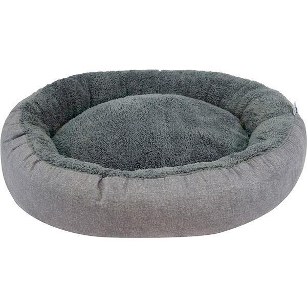 """Lit de luxe pour chien ovale, 27"""" x 22"""" x 7"""", charbon"""