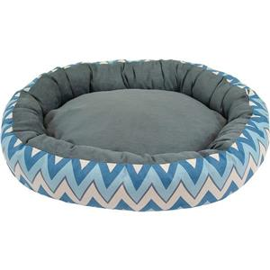 Urban Loft by Westex Oval Chevron Donut Dog Bed - 35-in x 27-in x 8-in - Blue