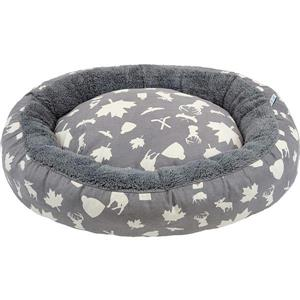 Urban Loft by Westex Oval Donut Dog Bed - 35-in x 27-in x 8-in - Multicoloured