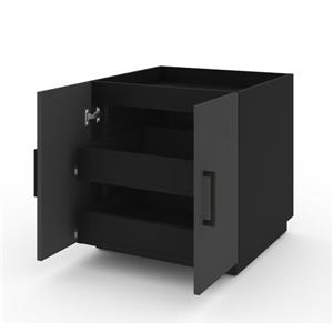 Bestar Lincoln Stackable Cabinet with 2 Drawers - Black