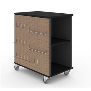 Cabinet mobile avec rangement Lincoln, noir