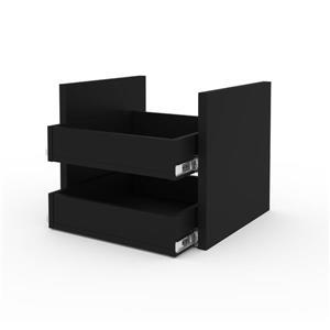 Ensemble de 2 tiroirs pour cabinet empilable Lincoln, noir
