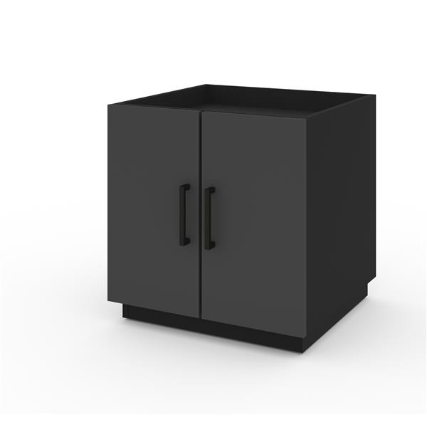 Bestar Lincoln Stackable Storage Cabinet - Black