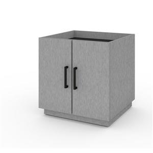 Bestar Lincoln Stackable Storage Cabinet - Silver Grey