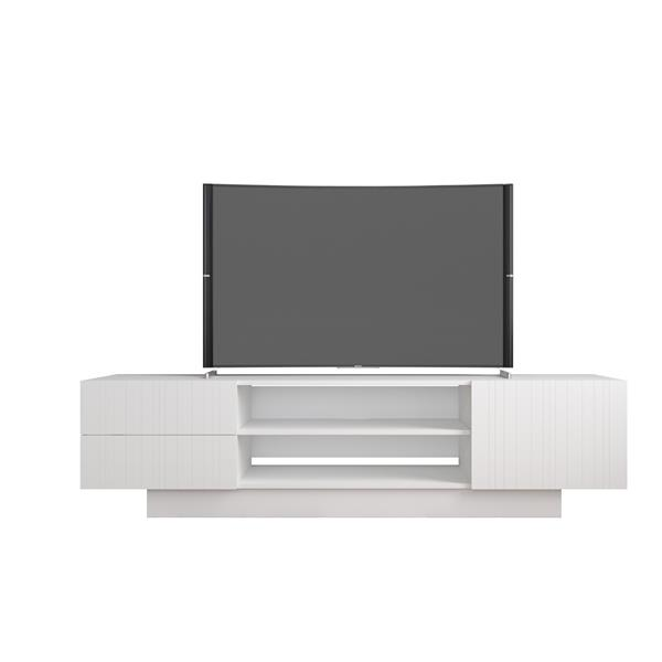 Nexera Marble Entertainment Set/TV Stand 72-in  - White - 2 Piece