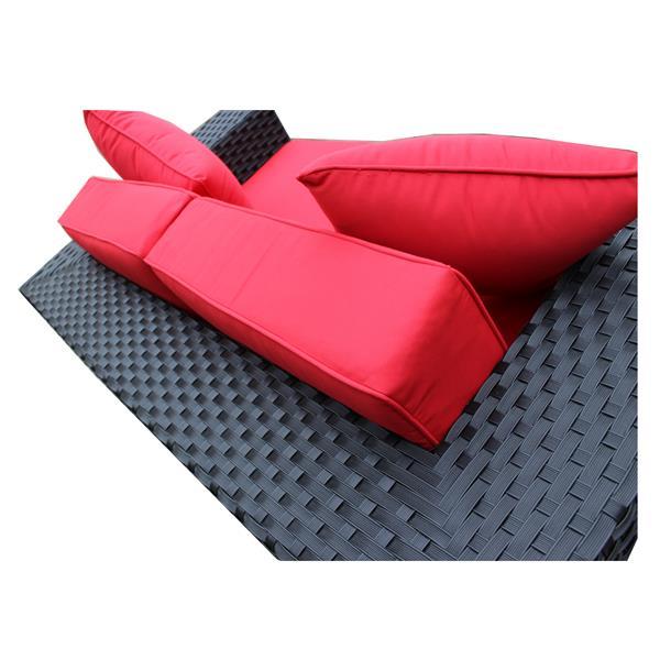 WD Patio Venetian Outdoor Patio Set - Wicker/Aluminum -  Jockey Red