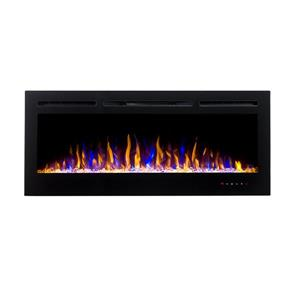 """Flamehaus® Electric LED Fireplace Insert -  50""""- Black"""