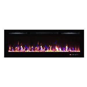 """Foyer électrique encastré à DEL Flamehaus(MD), 65"""", noir"""
