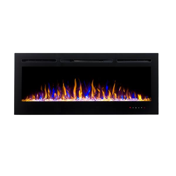 """Flamehaus® Electric LED Fireplace Insert - 72""""- Black"""