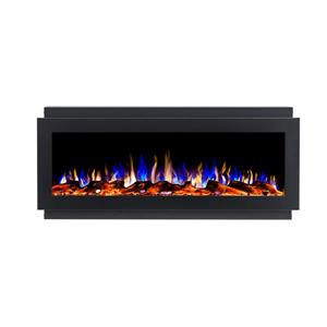 "Flamehaus® Electric LED Fireplace Insert - 50""- Black"