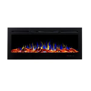 "Flamehaus® Electric LED Fireplace Insert - 45""- Black"