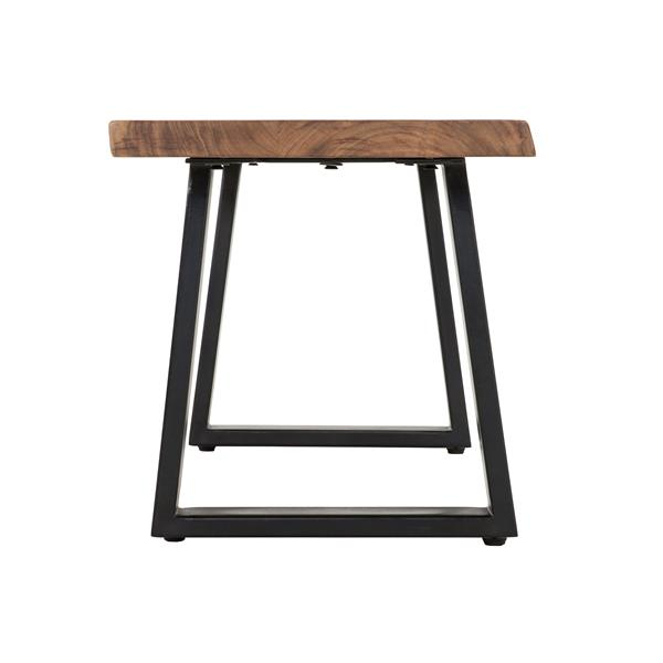 Collection Bourbon Street Kiel Wood and Metal Dining Bench - Natural/Black - 70""