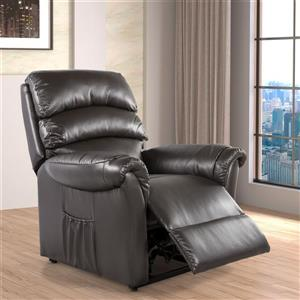 Collection Bourbon Street Winston Power Lift and Rise Chair - brown bonded leather