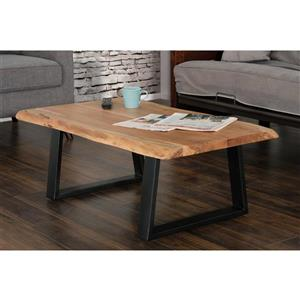 Collection Bourbon Street Pietro Wood and Metal Coffee Table
