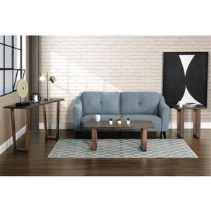 """Collection Bourbon Street Kamala Wood and Metal Coffee Table - 28"""" x 48"""""""