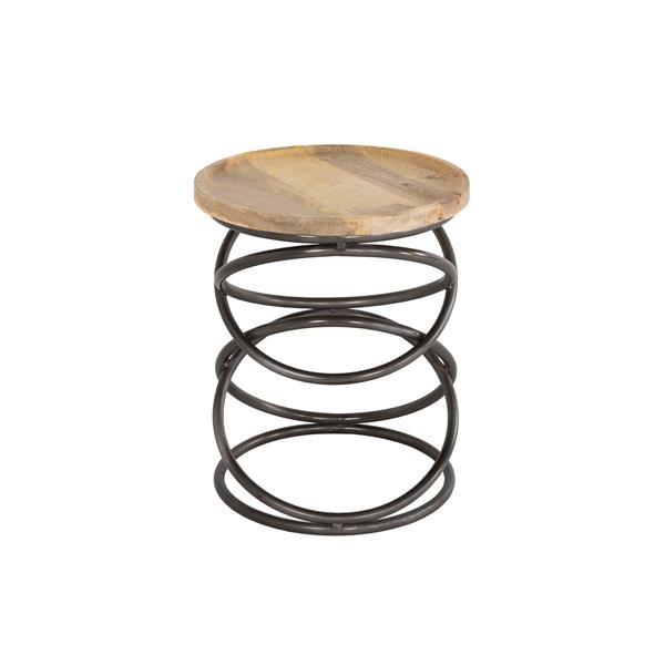 Collection Bourbon Street Anastasia Mango Wood and Iron End Table