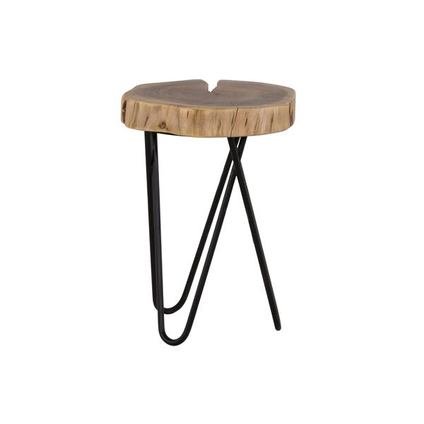 Collection Bourbon Street Mina Acacia Wood and Iron Accent Table
