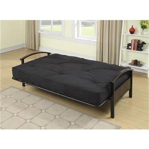 Matelas futon Avery pour base de lit double, noir, 8
