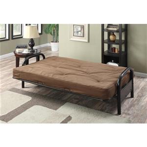 """Matelas futon Avery pour base de lit double, brun, 8"""""""