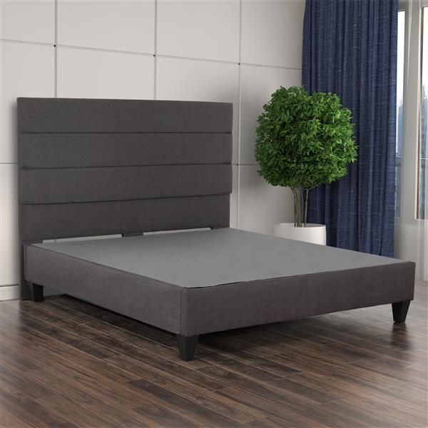 Collection Bourbon Street Tate Upholstered Bed - Charcoal Fabric - King