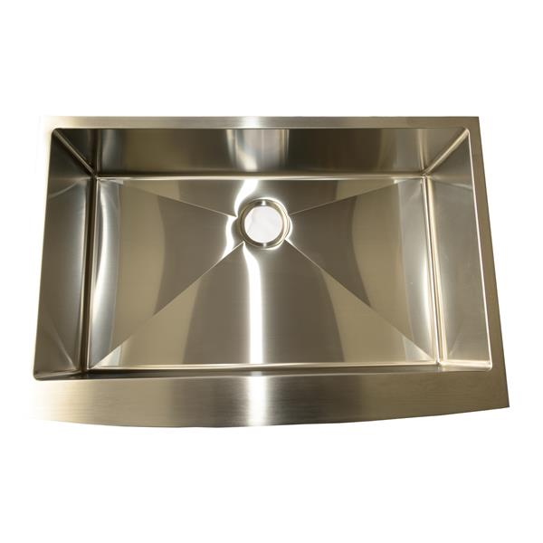 Buckler Global Apron Square Single Kitchen Sink - Stainless Steel