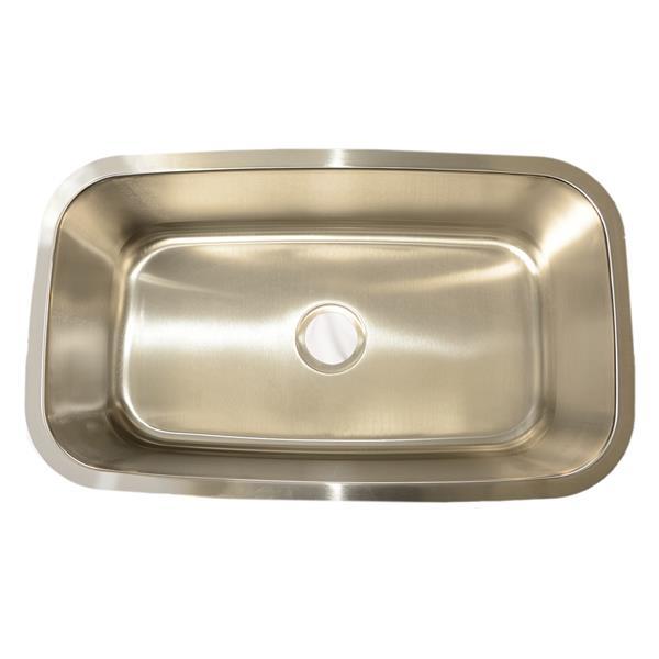 Buckler Global Undermount Single Kitchen Sink - Stainless Steel