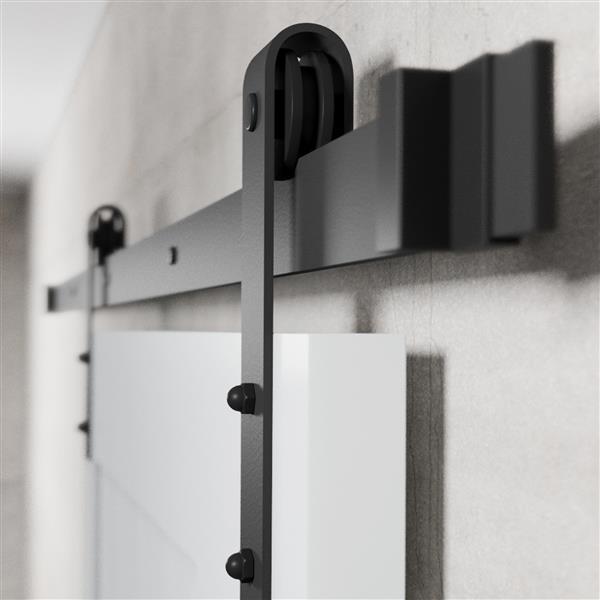 Urban Woodcraft California Sliding Barn Door with hardware - Grey - 40-in