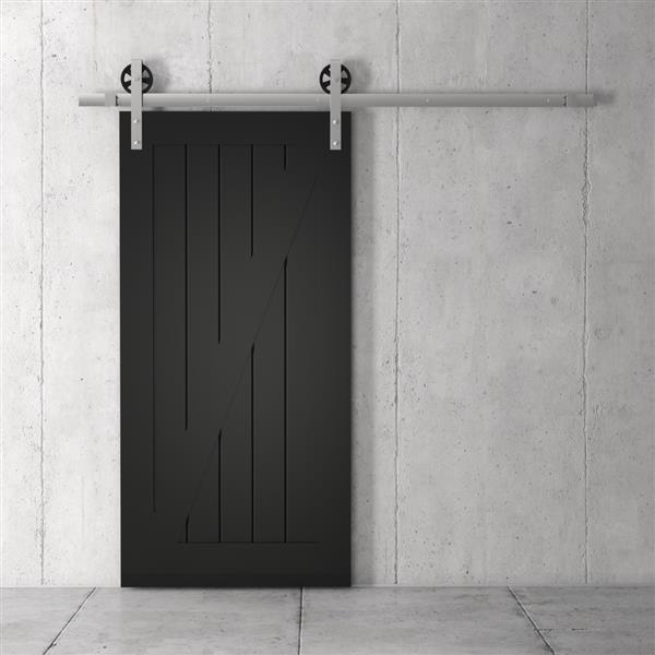 URBAN WOODCRAFT California Z Frame Barn Door With Hardware ...