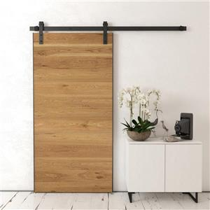 Urban Woodcraft Boathouse Barn Door with hardware Wood Oak - Natural - 40-in