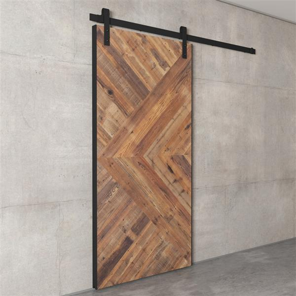 Urban Woodcraft Moncton Sliding Barn Door with Hardware Kit - Natural - 40-in