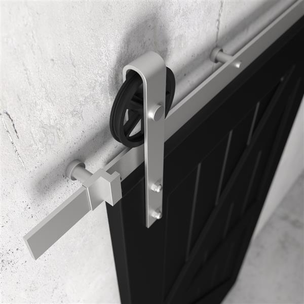 Urban Woodcraft Manhattan Sliding Barn Door with Hardware- Espresso - 40-in