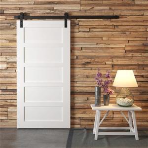 Urban Woodcraft Suburb Barn Door with Hardware - 5-Panel - White - 40-in