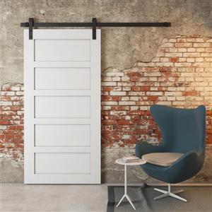Urban Woodcraft Suburb Barn Door with Hardware - 5-Panel - Grey - 40-in