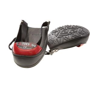 Impacto Toes2Go Steel Toe Cap - Black/Red - Medium shoe M8-13 W10-13
