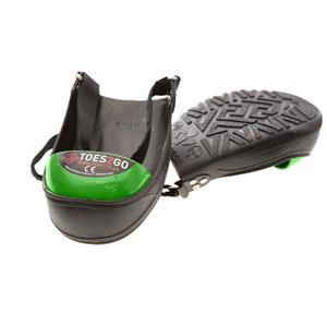 Impacto Toes2Go Steel Toe Cap - Black/Green - Large shoe M13-16