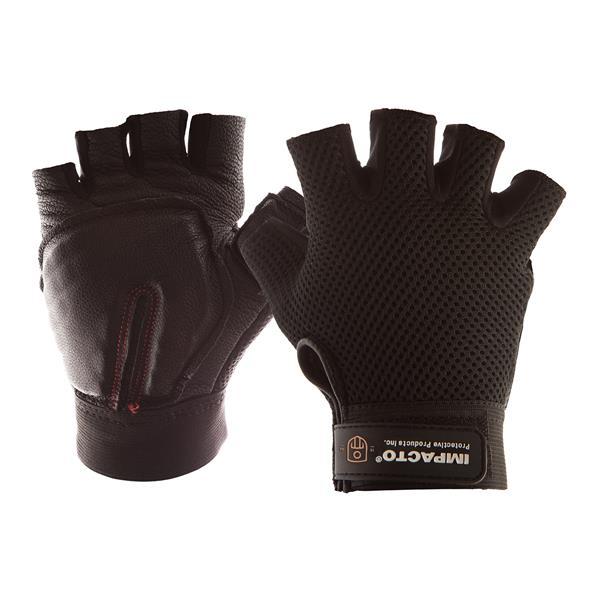 IMPACTO Carpal Tunnel Glove Half Finger - Black - Large