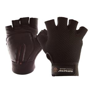 IMPACTO Carpal Tunnel Glove Half Finger - Black - Large