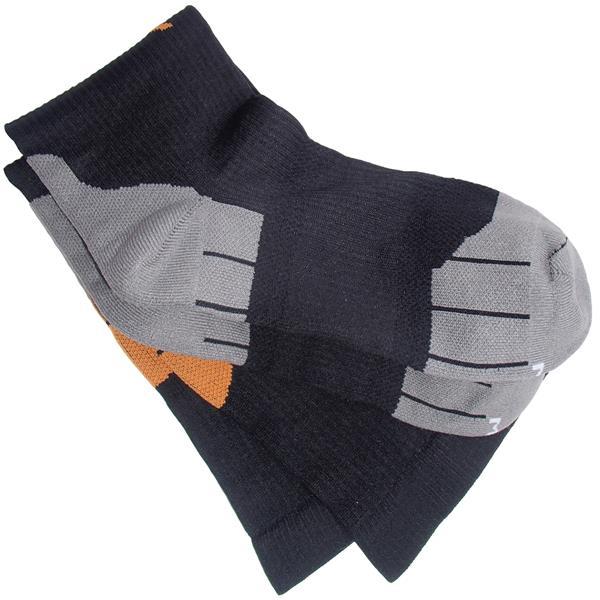 IMPACTO Compression Socks - Black and Orange - X-Large