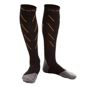 IMPACTO Compression Socks - Black and Orange - Large